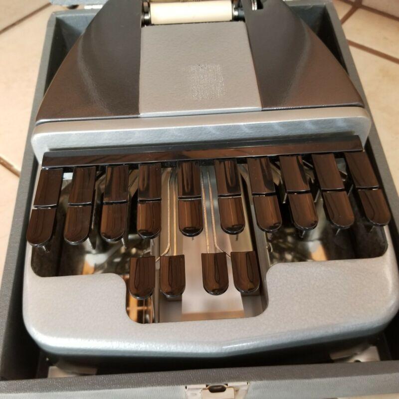 Vintage La Salle Stenotype Machine With Case