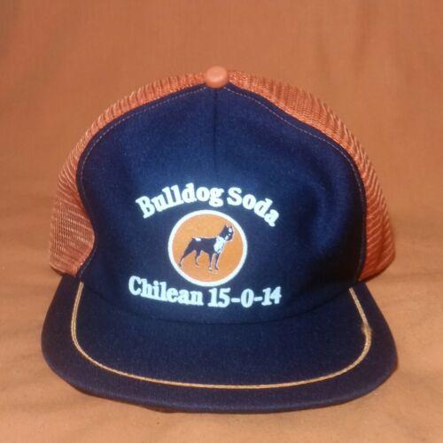 VINTAGE SNAPBACK HAT NOS Bulldog Soda Nitrate Patch 70s 80s Mesh Trucker Cap