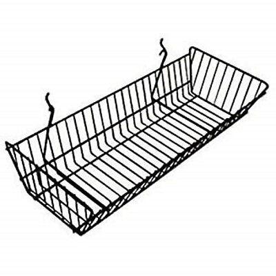 Only Hangers Slatwallgridwall Basket 24 Long X 10 Deep X 5 High Black 6pk