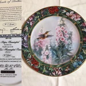 Lena Liu's Hummingbird Treasury. Four plates