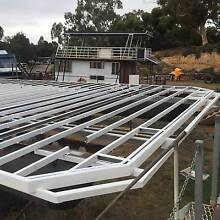 House boat pontoons and floor frame Murray Bridge Murray Bridge Area Preview