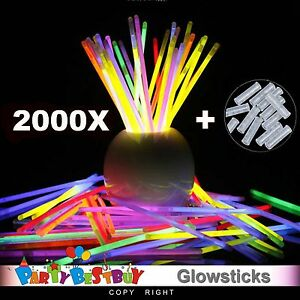 2000-mixed-Color-Glow-Sticks-Light-Bracelets-Disco-Party-Bulk-Glow-in-the-dark-d