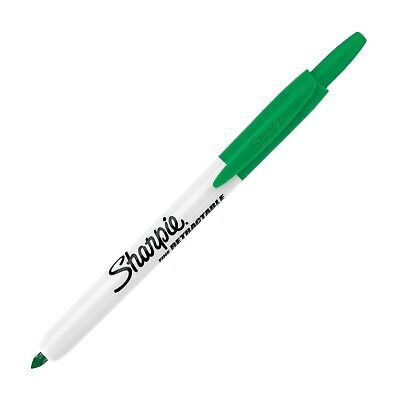 36704 Sharpie Retractable Permanent Marker Green Ink Fine Point Pack Of 5