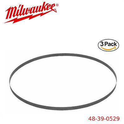 Milwaukee 48-39-0529 18 TPI Compact Portable Band Saw Blade, 3 Pack - Compact Portable Band Saw Blade