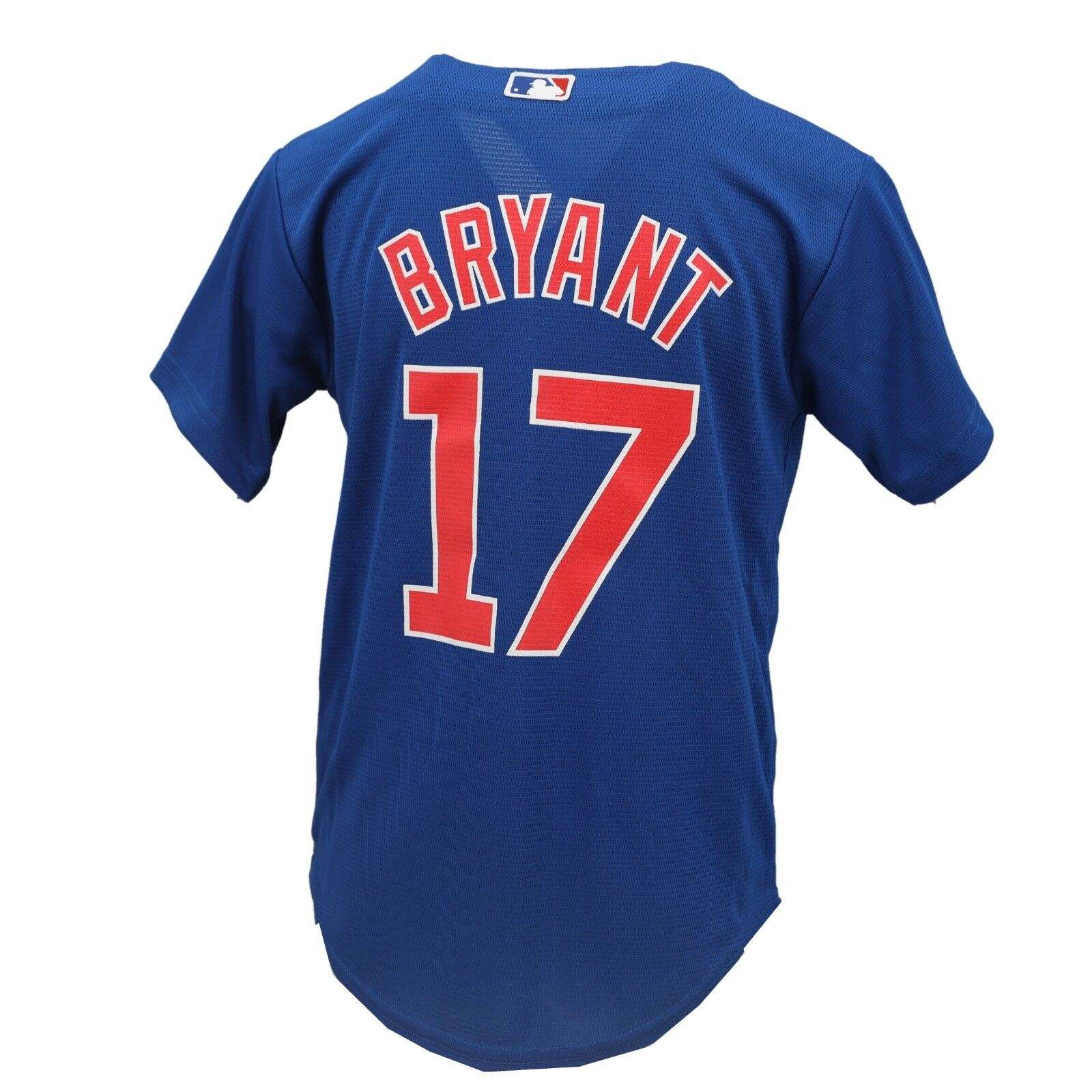 meet 891e7 5137c Details about Chicago Cubs MLB Majestic Cool Base Kids Youth Size Kris  Bryant Jersey New Tags