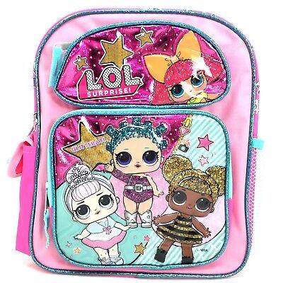 Personalised LOL Doll /'Showbaby/' Cotton Canvas Pink Drawstring Gym PE Bag