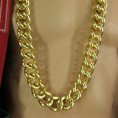 New Men Chunky Metal Thick Chain Link Long Necklace Gold Silver Hip Hop Fashion