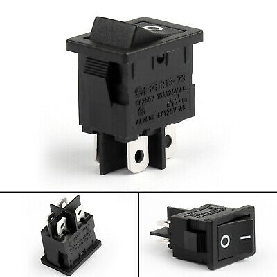 4 Waterproof R13-73a Rocker Switch 4pin 2 Position Dpst 6a250vac 10a125v U9