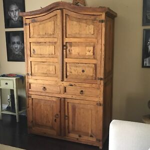 MEXICAN ARMOIRE / RUSTIC PINE CABINET