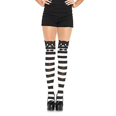 Striped Cat Pantyhose Kitty tights Cheshire Cat 7935