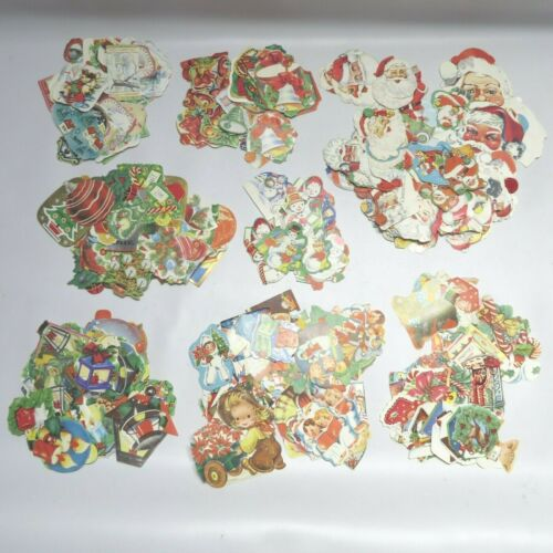 Vtg Holiday Gummed Seals Stickers Lot of 425 All Christmas 1920s-1960s