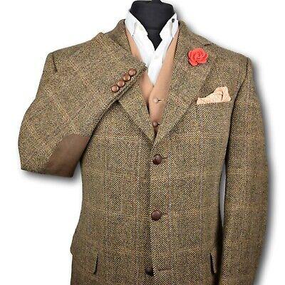 Harris Tweed BARUTTI Country Tailored Hacking Jacket 44R PRISTINE GARMENT 168