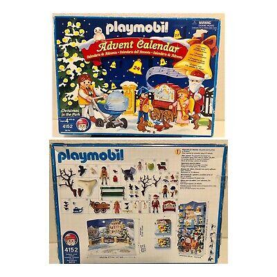 NOS 2005 Playmobil 4152 Christmas in the Park Advent Calendar 96 Pieces Holiday