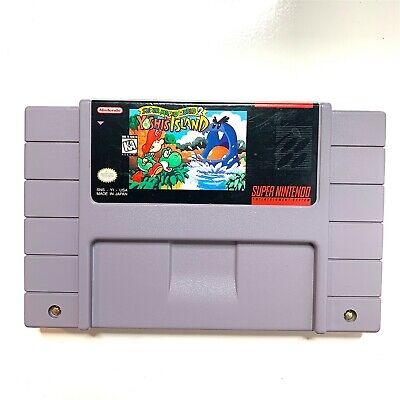 Super Mario World 2 Yoshi's Island - SNES Nintendo Game Tested & Authentic!
