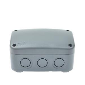 WEATHERPROOF PVC OUTDOOR INDUSTRIAL WATERPROOF JUNCTION BOX PLASTIC