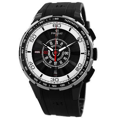 Perrelet Men's Turbine Chrono Black PVD Swiss Automatic Date Watch A1075/1