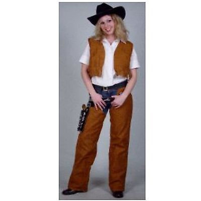 Cowgirl Dallas Kostüm 38 - 40 Cowboykostüm für Damen Chaps 2-tlg. 1211549G13