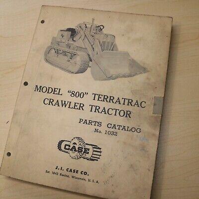 Case 800 Terratrac Tractor Bulldozer Crawler Loader Spare Parts Manual Front End