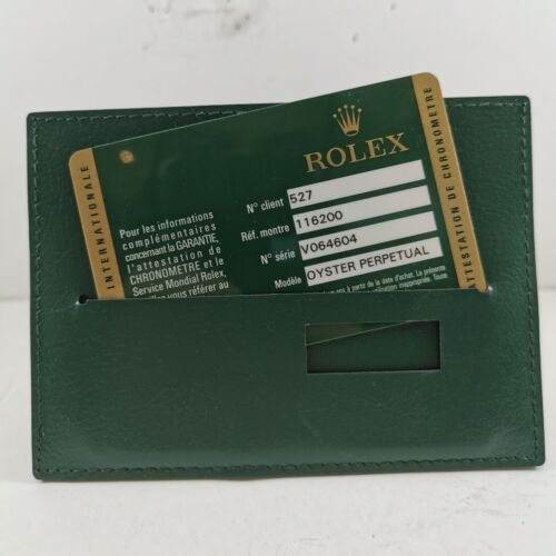 Original Rolex 116200 OPEN DATE Guarantee Warranty Card with Booklet & Manual