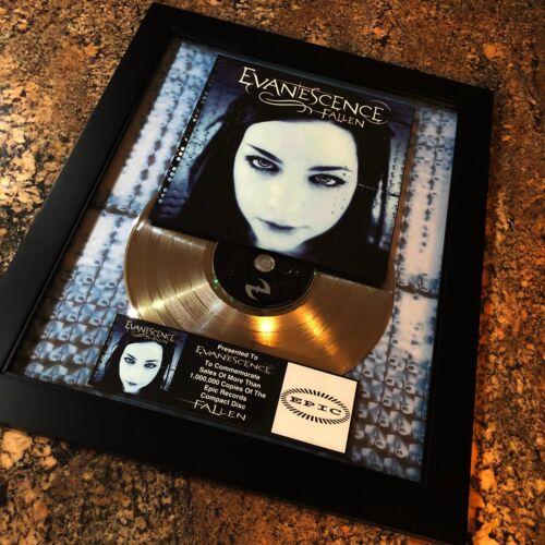 Evanescence FALLEN Million Record Sales Music Award Disc Album LP Vinyl