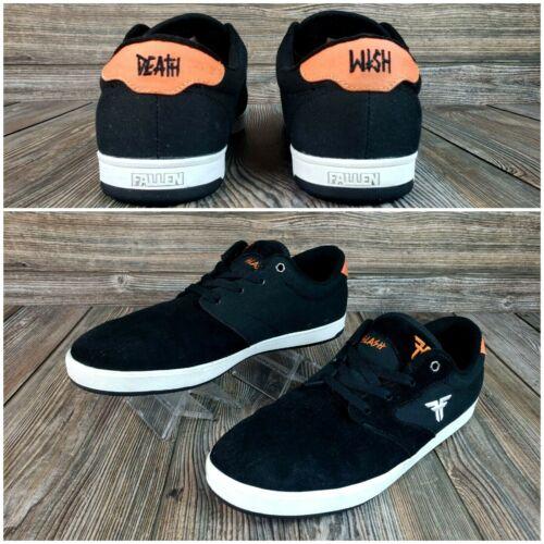 Fallen Slash 2 Death Wish Skate Shoes Mens Sz 11 Skateboarding Black/Orange VGC