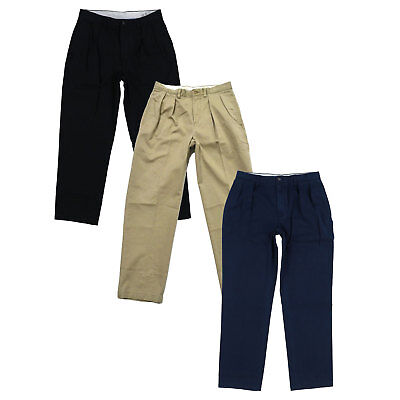 - Polo Ralph Lauren Mens Chino Pants Classic Fit Pleated Front Casual Khaki Bottom