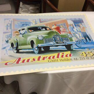 Australia Post Holden FX 48/215 Poster