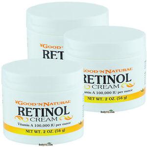 3 X Retinol Cream Vitamin A 100 000 IU PER Ounce 2 OZ OTC