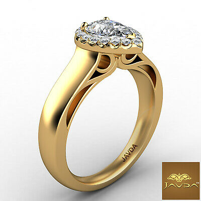 Halo Pave Set Womens Pear Diamond Engagement Ring Certified by GIA F VVS2 0.70Ct 2