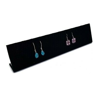 Black Velvet 6 Pair Stud Dangle Earring Jewelry Display Holder Showcase Stand
