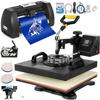 5 In1 Heat Press 15x15 Vinyl Cutter 14 Plotter Pattern Swing Away Usb Port