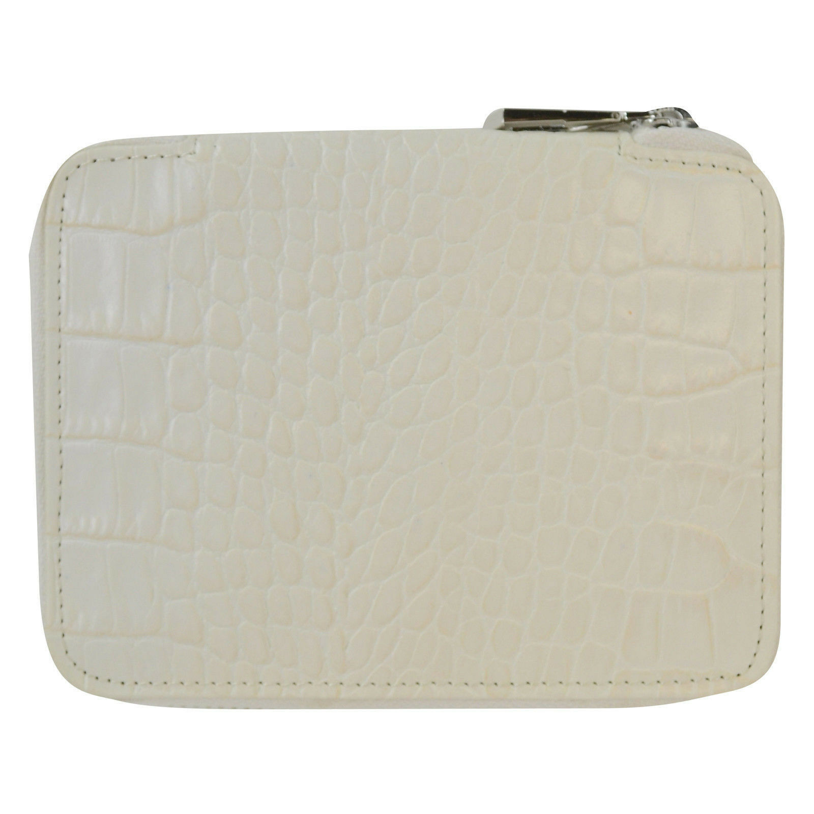 4aa39a3454 Details about NEW Marc by Marc Jacobs Croc Agenda Zip Around Wallet in White