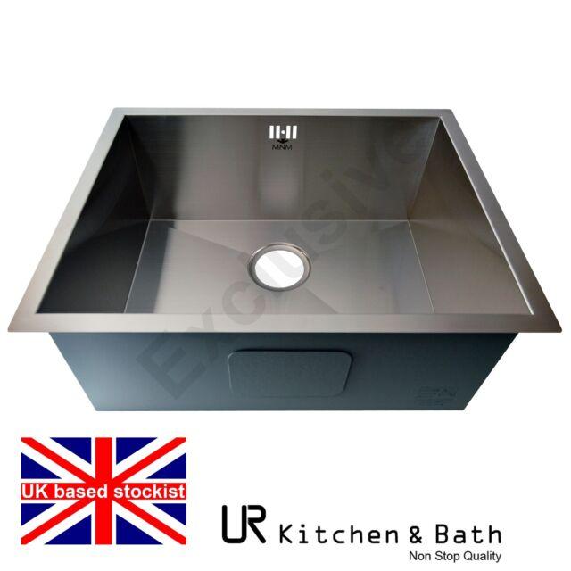 Bathroom Sinks Ebay Uk large stainless steel undermount single bowl kitchen sink | ebay