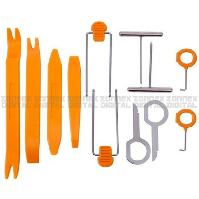 12pcs Car Radio Door Clip Panel Trim Audio Removal Pry Repairing Tool Kit