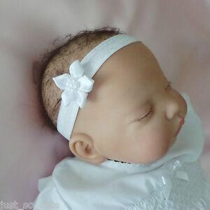 Baby-Headband-Hairband-White-Flower-Christening-Baptism-Wedding-Party