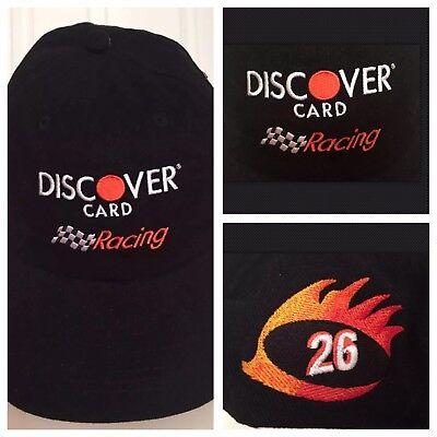 New Rare Nascar Discover Card Racing  26 Todd Bodine 2002 Baseball Cap Hat Black