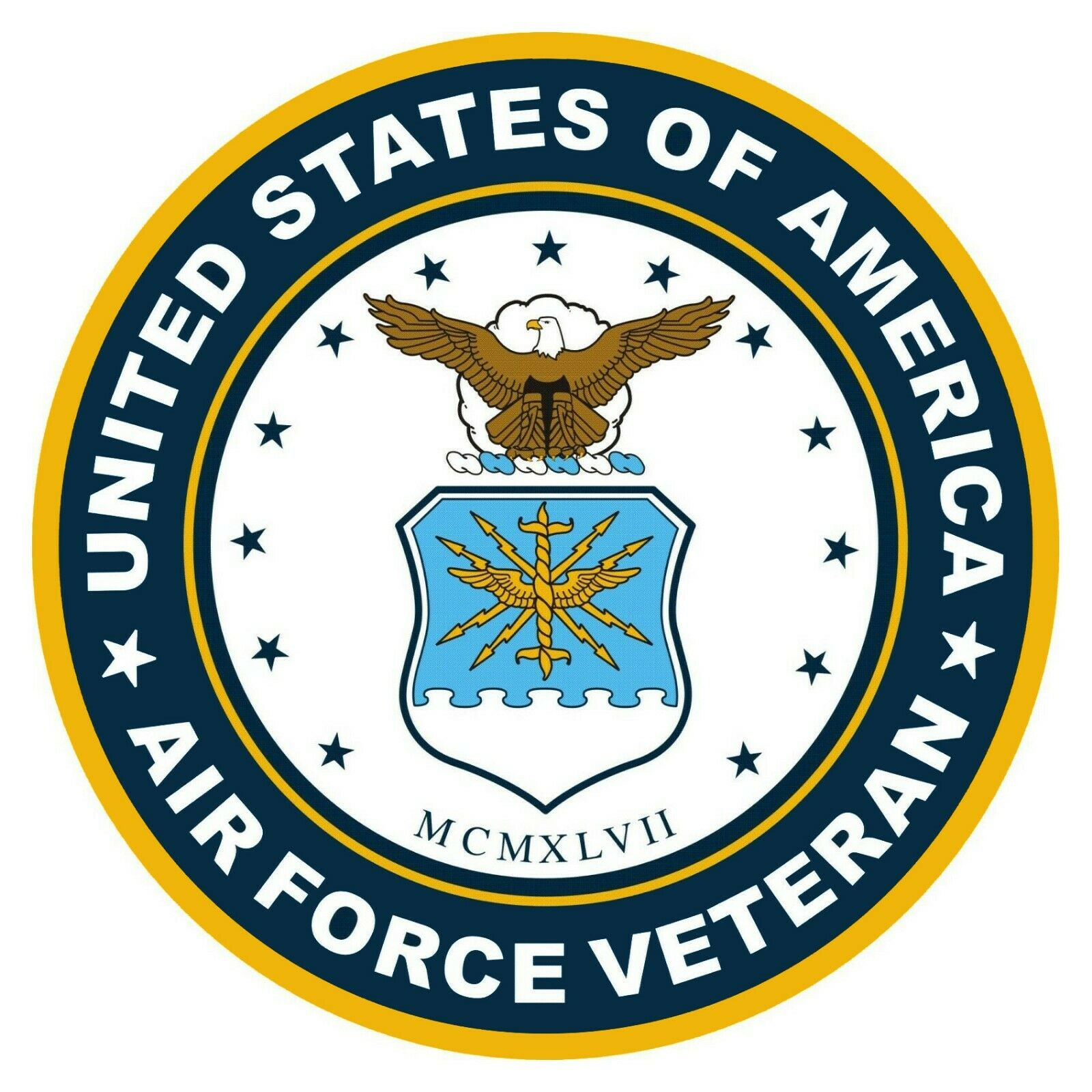 Home Decoration - Dept of the Air Force seal USAF Veteran Decals Vinyl Military Emblem Decals