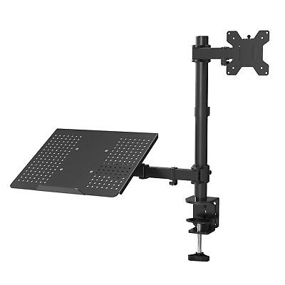 "Laptop Notebook Stand Monitor Arm Desk C-Clamp Mount Fully Adjustable 13""-27"" Monitor Arm Desk Clamp"