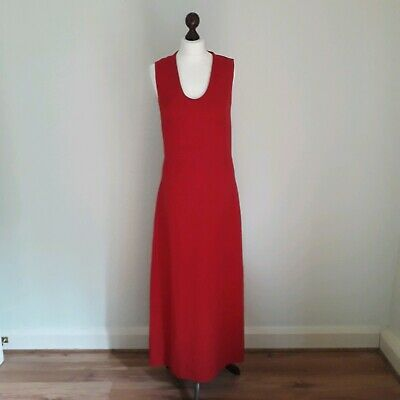 Vintage Versus Gianni Versace Dress Gown 10 Red Cruise Ball Evening Maxi 90s 80s