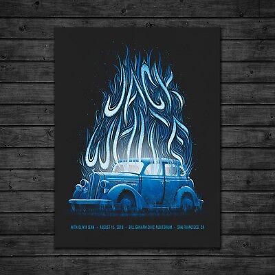 15 Poster Print - DKNG Jack White Gig Poster (8/15/2018 San Francisco, California)