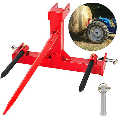 Category 1 Tractor 3 Point Attachment W43 Hay Bale Spear 2 17 Stabilizers