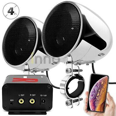 Waterproof Bluetooth Motorcycle Stereo Speakers Audio Radio System ATV UTV Cart