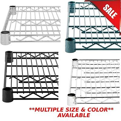 Any Size Color Single Epoxy Wire Metal Shelf For Shelving Unit Rack Vented New