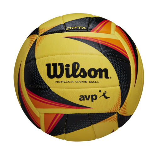 Wilson AVP OPTX Tour Replica Official Volleyball, Yellow/Black