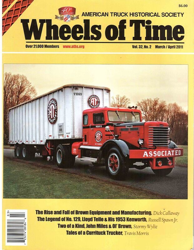 BROWN tractor trailer - Associated Transport - 1953 Kenworth bullnose truck