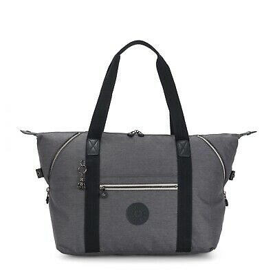 Kipling Large Travel Bag ART M Shoulder Bag CHARCOAL Grey SS20 RRP £102