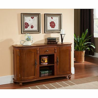 بوفيه جديد Kings Brand Walnut Finish Wood Console Sideboard Buffet Table With Storage ~New