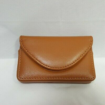 Fyy Handmade Premium Pu Leather Business Card Holder Magnetic Closure 2.5 Brown