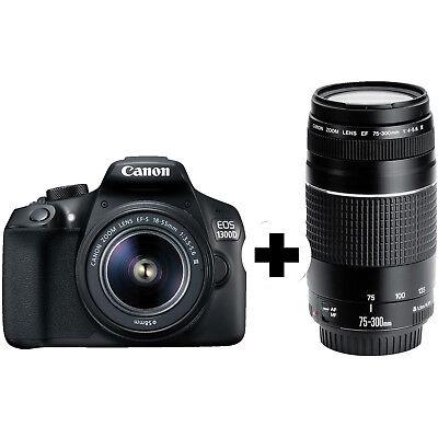CANON EOS 1300D Kit DFIN III Spiegelreflexkamera 18 Megapixel mit Objektiv 18-55