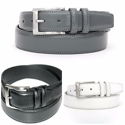 MEN'S CASUAL DRESS, GENUINE LEATHER 2 LOOP BELT 1 1/4